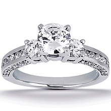 Engagement ring with Side Stones: (/images/Items/ENS1091-A_Top.jpg) Gold Platinum Diamond Ring ,engagement rings,diamond engagement rings