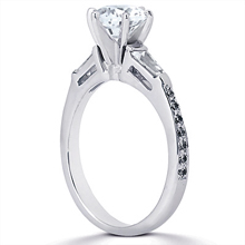 Engagement ring with Side Stones: (/images/Items/ENS1100-A_Angle.jpg) Gold Platinum Diamond Ring ,engagement rings,diamond engagement rings