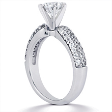 Engagement ring with Side Stones: (/images/Items/ENS1111-A_Angle.jpg) Gold Platinum Diamond Ring ,engagement rings,diamond engagement rings