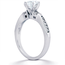 Engagement ring with Side Stones: (/images/Items/ENS1158-A_Angle.jpg) Gold Platinum Diamond Ring ,engagement rings,diamond engagement rings