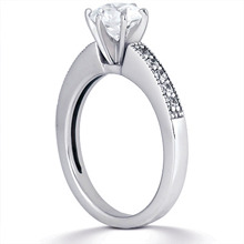 Engagement ring with Side Stones: (/images/Items/ENS1167-A_Angle.jpg) Gold Platinum Diamond Ring ,engagement rings,diamond engagement rings