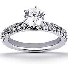 Engagement ring with Side Stones: (/images/Items/ENS1202-A_Top.jpg) Gold Platinum Diamond Ring ,engagement rings,diamond engagement rings