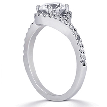 Pavé Halo Engagement Ring: (/images/Items/ENS1297-A_Angle.jpg) Gold Platinum Diamond Ring ,engagement rings,diamond engagement rings