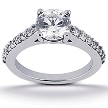 Engagement ring with Side Stones: (/images/Items/ENS1346-A_Top.jpg) Gold Platinum Diamond Ring ,engagement rings,diamond engagement rings