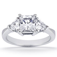 Engagement ring with Side Stones: (/images/Items/ENS1377-A_Top.jpg) Gold Platinum Diamond Ring ,engagement rings,diamond engagement rings