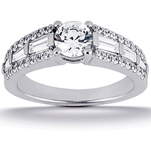 Engagement ring with Side Stones: (/images/Items/ENS1396-A_Top.jpg) Gold Platinum Diamond Ring ,engagement rings,diamond engagement rings