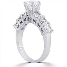 Engagement ring with Side Stones: (/images/Items/ENS140-A_Angle.jpg) Gold Platinum Diamond Ring ,engagement rings,diamond engagement rings