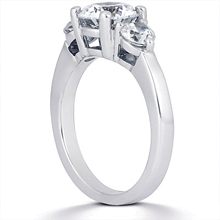 Engagement ring with Side Stones: (/images/Items/ENS1431-A_Angle.jpg) Gold Platinum Diamond Ring ,engagement rings,diamond engagement rings
