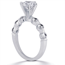 Engagement ring with Side Stones: (/images/Items/ENS1570-A_Angle.jpg) Gold Platinum Diamond Ring ,engagement rings,diamond engagement rings