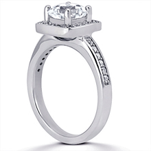 Pavé Halo Engagement Ring: (/images/Items/ENS1594-A_Angle.jpg) Gold Platinum Diamond Ring ,engagement rings,diamond engagement rings