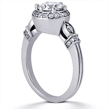 Engagement ring with Side Stones: (/images/Items/ENS1598-A_Angle.jpg) Gold Platinum Diamond Ring ,engagement rings,diamond engagement rings