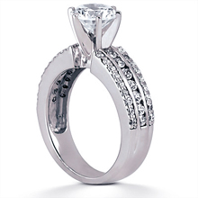 Engagement ring with Side Stones: (/images/Items/ENS1648-A_Angle.jpg) Gold Platinum Diamond Ring ,engagement rings,diamond engagement rings