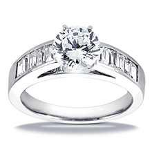 Engagement ring with Side Stones: (/images/Items/ENS1652-A_Top.jpg) Gold Platinum Diamond Ring ,engagement rings,diamond engagement rings