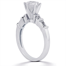 Engagement ring with Side Stones: (/images/Items/ENS175-A_Angle.jpg) Gold Platinum Diamond Ring ,engagement rings,diamond engagement rings