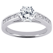 Engagement ring with Side Stones: (/images/Items/ENS1780-A_Top.jpg) Gold Platinum Diamond Ring ,engagement rings,diamond engagement rings