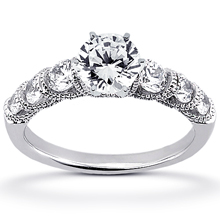 Engagement ring with Side Stones: (/images/Items/ENS1783-A_Top.jpg) Gold Platinum Diamond Ring ,engagement rings,diamond engagement rings
