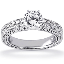 Solitaire Engagement Ring: (/images/Items/ENS1800-A_Top.jpg) Gold Platinum Diamond Ring ,engagement rings,diamond engagement rings