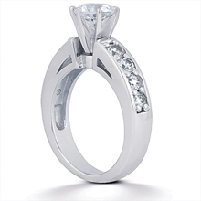 Engagement ring with Side Stones: (/images/Items/ENS228-A_Angle.jpg) Gold Platinum Diamond Ring ,engagement rings,diamond engagement rings