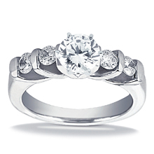 Engagement ring with Side Stones: (/images/Items/ENS292-A_Top.jpg) Gold Platinum Diamond Ring ,engagement rings,diamond engagement rings