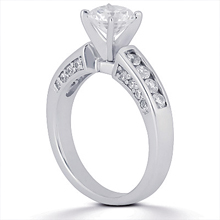Engagement ring with Side Stones: (/images/Items/ENS307-A_Angle.jpg) Gold Platinum Diamond Ring ,engagement rings,diamond engagement rings