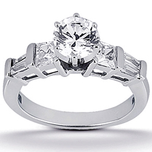Engagement ring with Side Stones: (/images/Items/ENS343-A_Top.jpg) Gold Platinum Diamond Ring ,engagement rings,diamond engagement rings