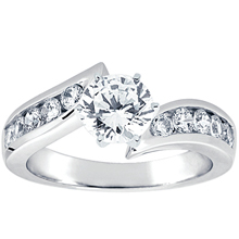 Engagement ring with Side Stones: (/images/Items/ENS4028-A_Top.jpg) Gold Platinum Diamond Ring ,engagement rings,diamond engagement rings