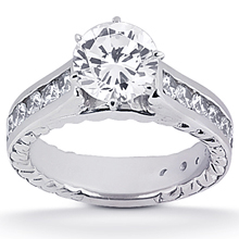 Engagement ring with Side Stones: (/images/Items/ENS420-A_Top.jpg) Gold Platinum Diamond Ring ,engagement rings,diamond engagement rings