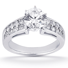 Engagement ring with Side Stones: (/images/Items/ENS424-A_Top.jpg) Gold Platinum Diamond Ring ,engagement rings,diamond engagement rings