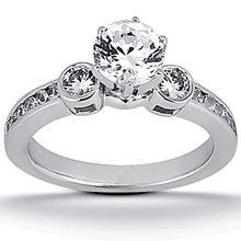 Engagement ring with Side Stones: (/images/Items/ENS466-A_Top.jpg) Gold Platinum Diamond Ring ,engagement rings,diamond engagement rings