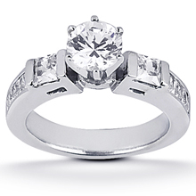 Engagement ring with Side Stones: (/images/Items/ENS471-A_Top.jpg) Gold Platinum Diamond Ring ,engagement rings,diamond engagement rings