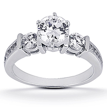 Engagement ring with Side Stones: (/images/Items/ENS475-A_Top.jpg) Gold Platinum Diamond Ring ,engagement rings,diamond engagement rings