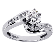 Engagement ring with Side Stones: (/images/Items/ENS594-A_Top.jpg) Gold Platinum Diamond Ring ,engagement rings,diamond engagement rings