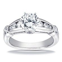 Engagement ring with Side Stones: (/images/Items/ENS719-A_Top.jpg) Gold Platinum Diamond Ring ,engagement rings,diamond engagement rings