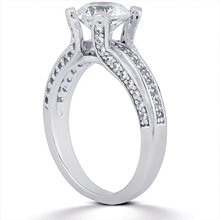 Engagement ring with Side Stones: (/images/Items/ENS807-A_Angle.jpg) Gold Platinum Diamond Ring ,engagement rings,diamond engagement rings