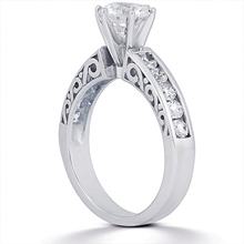 Engagement ring with Side Stones: (/images/Items/ENS816-A_Angle.jpg) Gold Platinum Diamond Ring ,engagement rings,diamond engagement rings