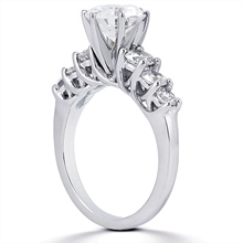 Engagement ring with Side Stones: (/images/Items/ENS847-A_Angle.jpg) Gold Platinum Diamond Ring ,engagement rings,diamond engagement rings
