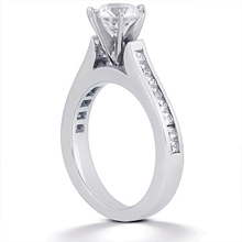 Engagement ring with Side Stones: (/images/Items/ENS877-A_Angle.jpg) Gold Platinum Diamond Ring ,engagement rings,diamond engagement rings