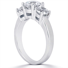 Engagement ring with Side Stones: (/images/Items/ENS954-A_Angle.jpg) Gold Platinum Diamond Ring ,engagement rings,diamond engagement rings