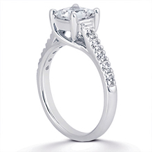 Engagement ring with Side Stones: (/images/Items/ENS981-A_Angle.jpg) Gold Platinum Diamond Ring ,engagement rings,diamond engagement rings