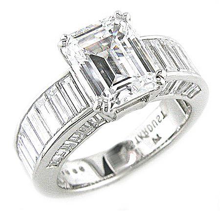 Diamond Ideals - Channel-Set Baguette Engagement Ring by Stardust