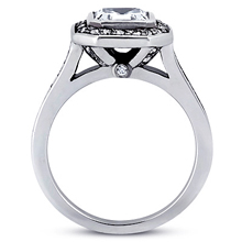 Pavé Halo Engagement Ring: (/images/items/ENR7117_Side.jpg) Gold Platinum Diamond Ring ,engagement rings,diamond engagement rings